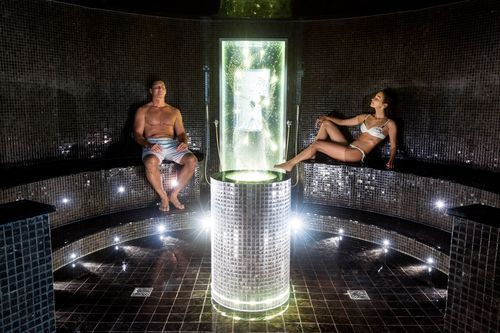 Inside One of The Steam Rooms at Sparkling Hill Resort. Courtesy Photo