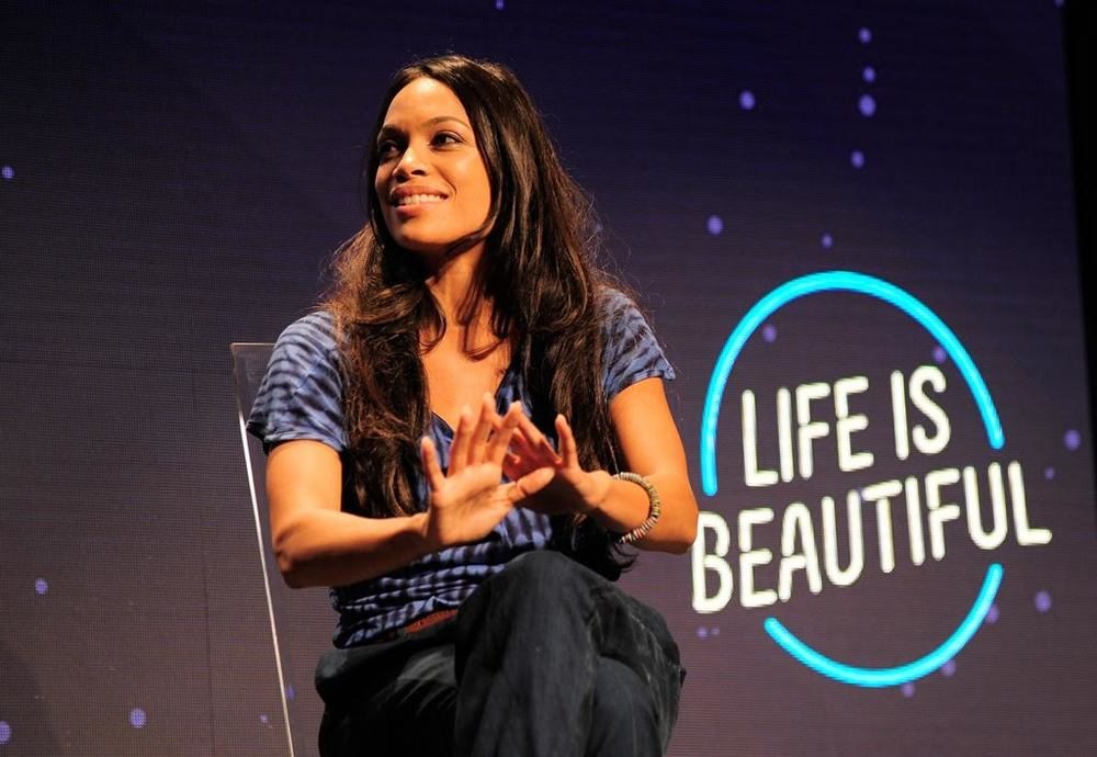 Rosario Dawson at the Learning Series. Photo Credit: Film Magic for Life is Beautiful