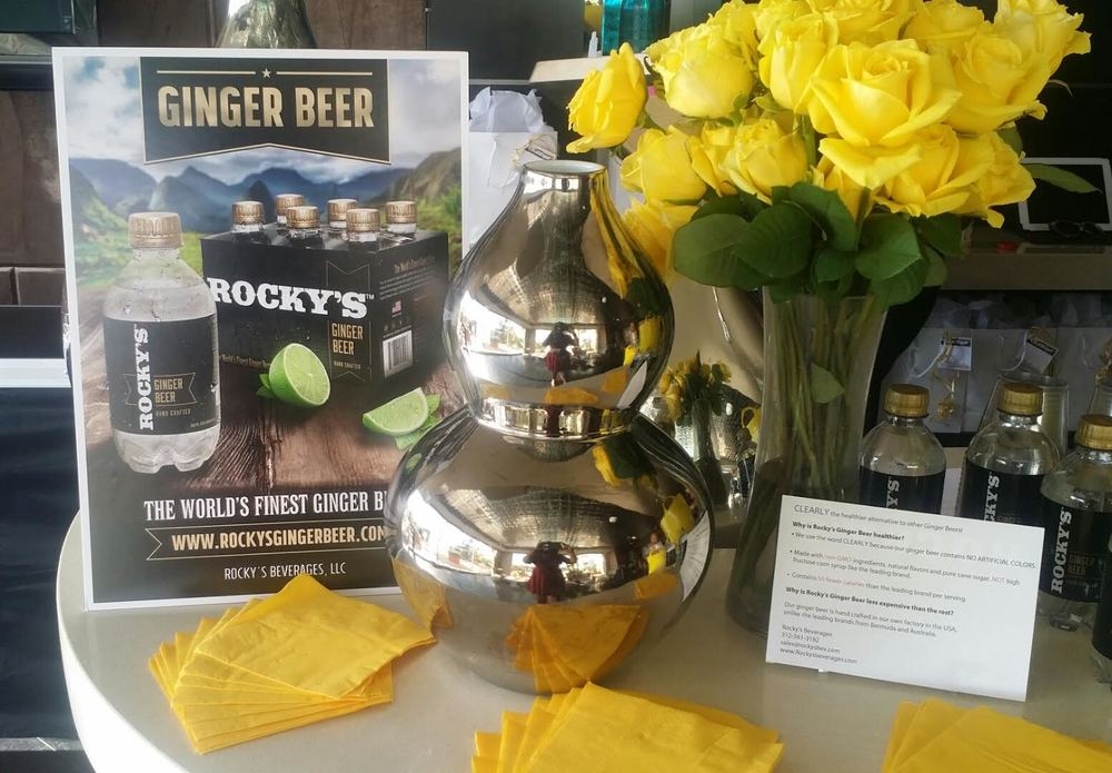 Rocky's Ginger Beer and Arrangements by Bouqs Provided the Perfect Ambiance!