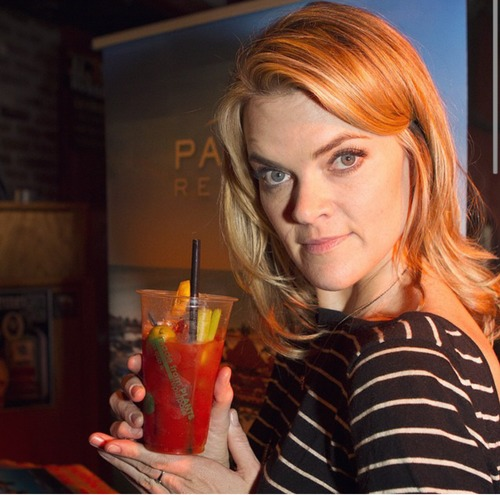 Missi Pyle Enjoying a Tito's Bloody Mary at the EcoLuxe Lounge at Cisero's Restaurant. Courtesy Photo