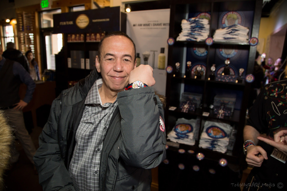 Gilbert Gottfried checking out Revolution Watches! Photo Credit: Miles Mortensen