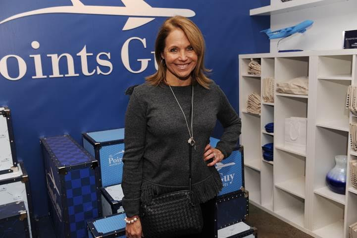 Katie Couric stops by The Points Guy at the lounge!
