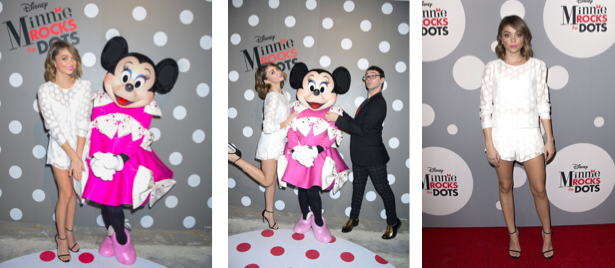 "Sarah Hyland at ""Minnie Rocks the Dots"". Photo Credit:Michael Bezjian/Getty Images"