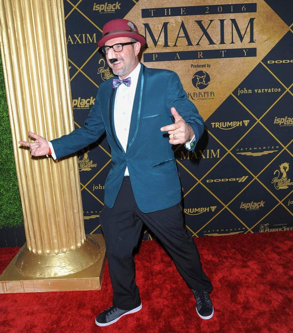 David Arquette showed off his silly side at The 2016 MAXIM Party (produced by Karma International) with Bootsy Bellows powered by Dodge on Treasure Island in San Francisco. Photo Credit: Michael Bezjian