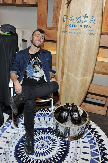 Max Schneider attends the GBK Pre Grammy Lounge at Tom's Urban at L.A. Live. Photo Credit: Jerod Harris