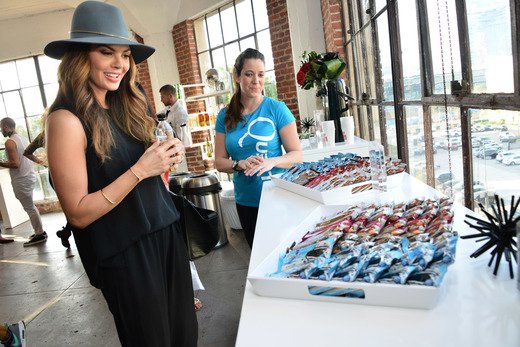 Ali Landry attends the Colgate Optic White Beauty Bar Day 1 at Hudson Loft. Photo Credit: Getty Images for BMF Media