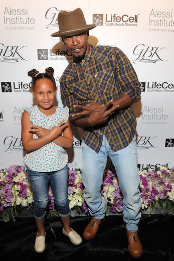Jamie Foxx and daughter Annalise Bishop attend the GBK & LifeCell 2016 Pre Oscar Lounge at The London West Hollywood. Photo Credit: Jerod Harris