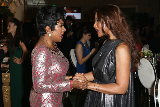 Sheryl Lee Ralph and Beverly Johnson attend Mercedes-Benz and African American Film Critics Association Oscars party at Four Seasons Beverly Hills on February 28, 2016 in Los Angeles, California. Photo Credit: Joe Scarnici/Getty Images for Mercedes-Benz USA.