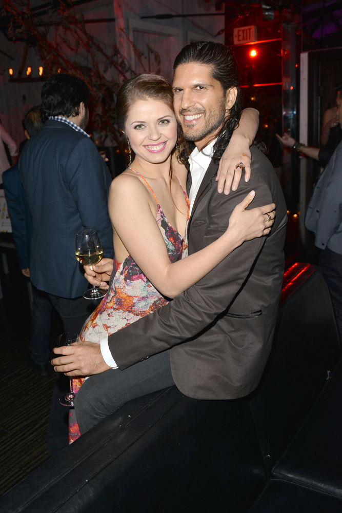 Anna Trebuskaya and boyfriend, Nevin Millan stopped by to show their support. Courtesy Photo