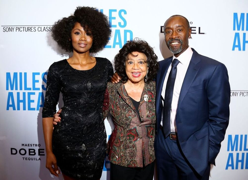 Don Cheadle and Emayatzy Corinealdi With The Real Frances Davis. Courtesy Photo