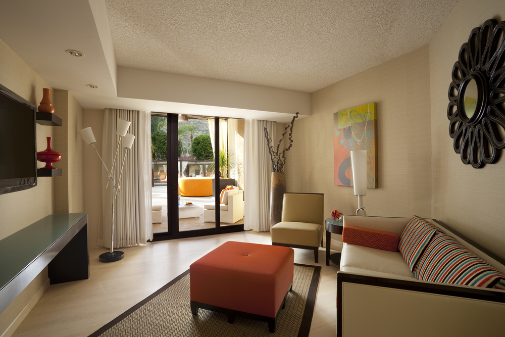 Inside the pool side suite at the Hyatt Palm Springs. Courtesy photo
