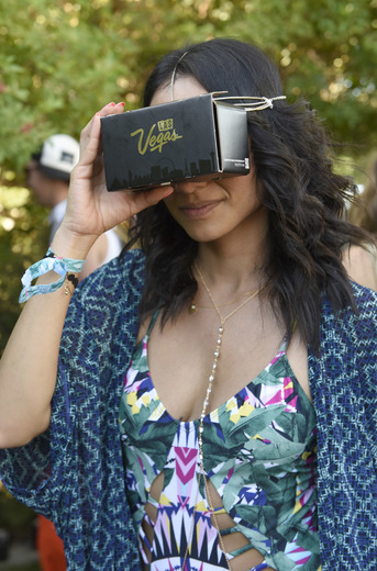 "Guests Were Able to Check Out The New App ""Vegas VR"" at The Music Lounge. (Photo Credit: Vivien Killlilea/Getty Images for The BMF Media Group)."
