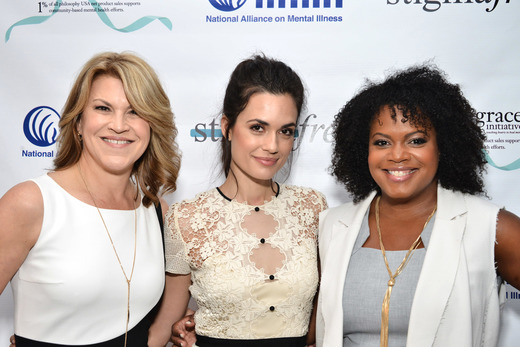 (L-R) National Director of Communications at NAMI Katrina Gay, Actress Torrey DeVitto and Vice President, Global PR, Social Media and Charity at philosophy Tiffani Carter-Thompson attend the Hope and Grace Luncheon with NAMI And Philosophy For Mental Health awareness month at Sofitel Hotel on May 19, 2016 in Los Angeles, California. Photo Credit: Araya Diaz/Getty Images for Philosophy.