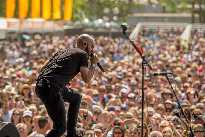 "X Ambassadors Played Their Hits ""Renegade"" and ""Unsteady"". Photo Credit: BottleRock Napa Valley/Latitude 38 Entertainment"