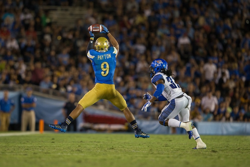 JORDAN PAYTON -     WIDE RECEIVER - UCLA      PHOTO CREDIT: Playmaker Images / Jeff Lewis