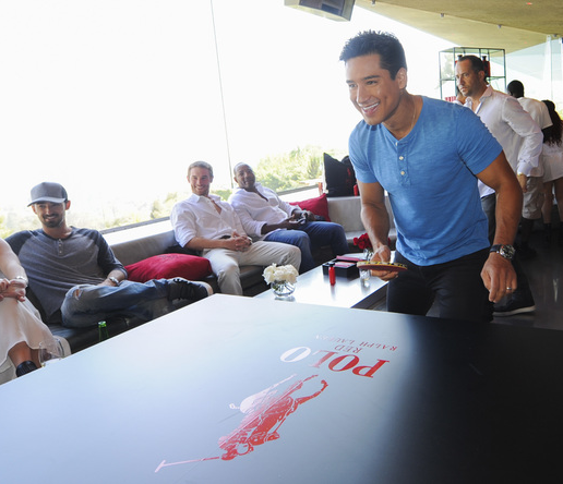 Mario Lopez plays ping pong with at the polo red activation at the 2016 ESPYs Talent Resources Sports Luxury Lounge. Photo Credit: Getty Images for Talent Resources.
