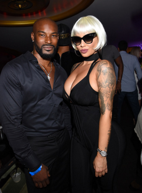 Tyson Beckford and Amber Rose Caught Up at the Event.   Photo credit: Getty Images for Karma International