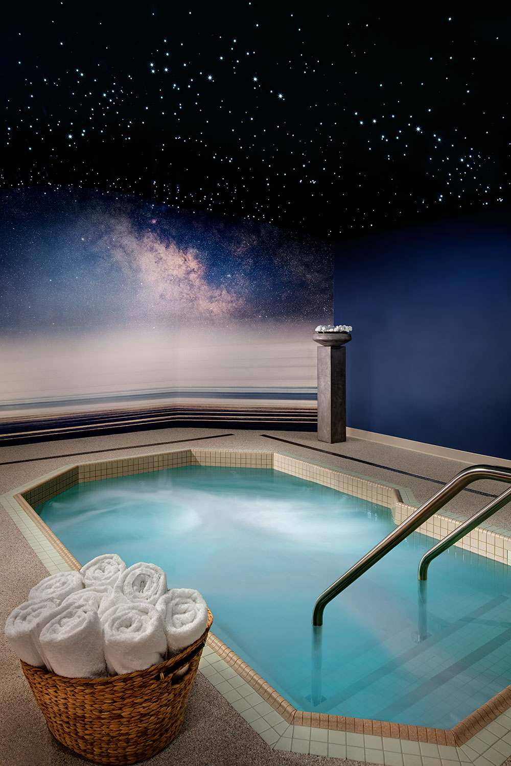 Take a Dip in the Jacuzzi and Relax Under the Stars After Your Treatment! Photo Courtesy of Burke Williams