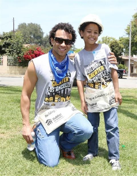 Corbin Bleu of   High School Musical   donates his time to help build homes with Habitat LA. Courtesy Photo