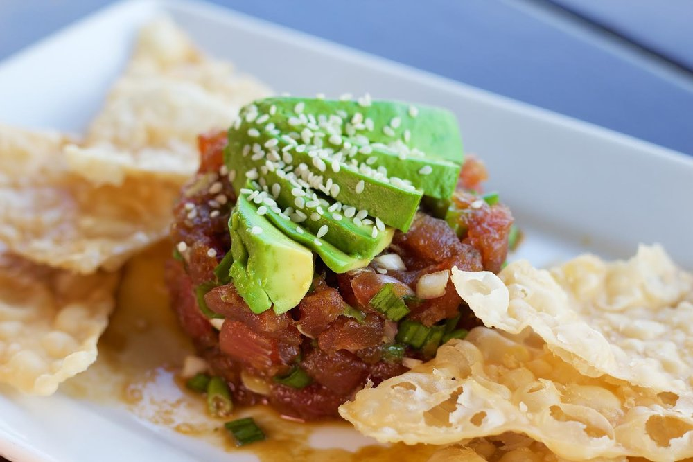 The Ahi Tuna Poke! Super Fresh and the In-House Created Wontons Make This Worth Trying.  Courtesy Photo