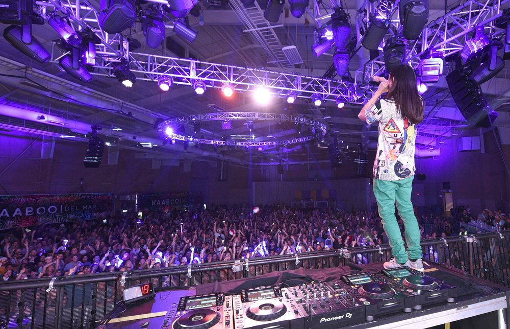 DJ/Producer Steve Aoki performs on the Encore Stage during the 2016 KAABOO Del Mar at the Del Mar Racetrack on September 17, 2016 in Del Mar, California. (Photo by C Flanigan/WireImage for Kaaboo Del Mar via imageSPACE)