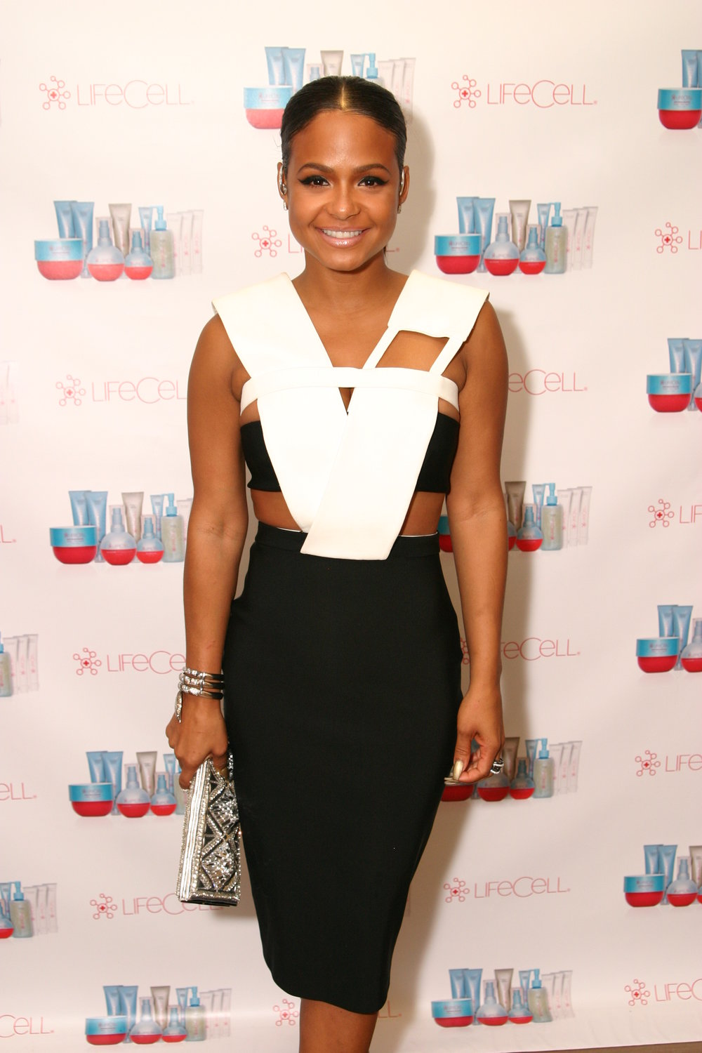 Christina Milian Shows Her Support for LifeCell! Courtesy Photo