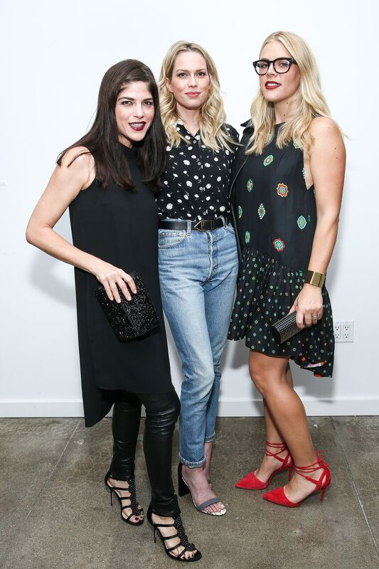 Selma Blair with Erin Foster and Busy Phillips at the Vince Camuto Holiday Dance Party! Photo Credit: John Salangsang/BFA