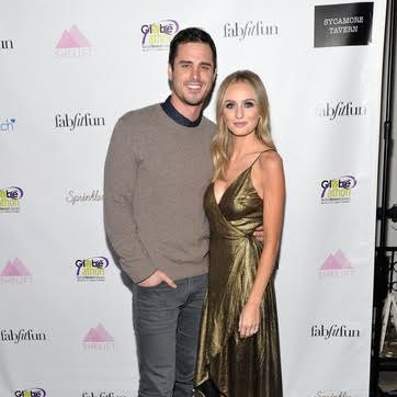 "Ben Higgins and Lauren Bushnell discussed their plans as a couple for the New Year at the ""The Bachelor"" Charity Premiere Party in support of SheLift and Globe-athon at Sycamore Tavern on January 2, 2017. Photo Credit: Michael Tullberg 