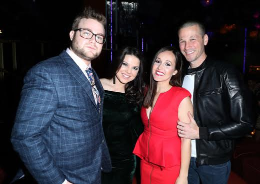 "Date Night!  Bestie couples JP and Ashley Rosenbaum  Amy and Dillon King  pose for a group photo   at   WE tv's ""Marriage Boot Camp Reality Stars"" and ""L.A. Hair"" Premiere Event at Nightingale on January 5, 2017. Photo Credit:  Jonathan Leibson  