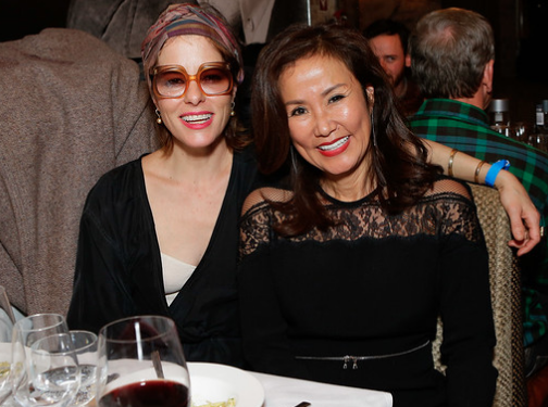 Parker Posey and Mimi Kim share a laugh during ChefDance 2017 sponsored by GiftedTaste, Park City, Utah. Photo Credit: Jordan Kartchner