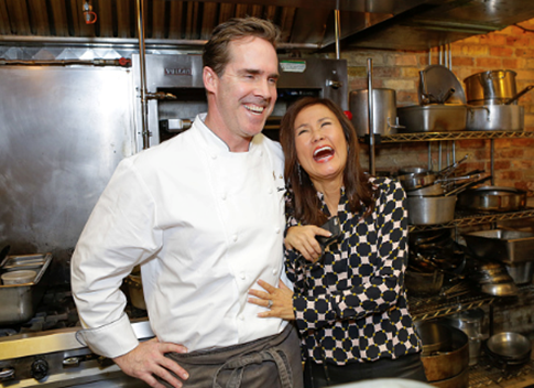 Chef Shawn McClain and Mimi Kim at the first night of ChefDance 2017. Photo Credit: Jordan Kartchner