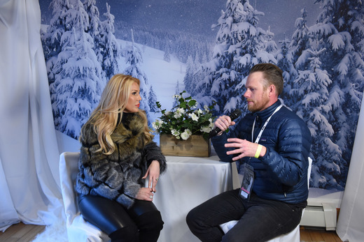 Gretchen Rossi and Aaron Shiver attend EcoLuxe Lounge Ten Years at Sundance on January 22, 2017 in Park City, Utah. (Photo by Vivien Killilea/Getty Images for EcoLuxe)