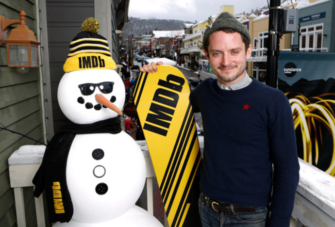 Elijah Wood Kept His Cool at the IMDb Studio at Sundance Film Festival. Photo Credit: Getty Images for IMDb