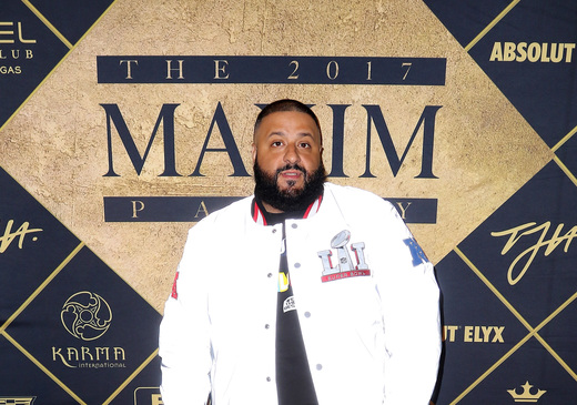 DJ Khaled arrives at the Maxim Super Bowl Party on February 4, 2017 in Houston, Texas. Photo Credit: John Parra/Getty Images for Maxim