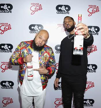 "Producers Andre ""Dre"" Christopher Lyon and Marcello ""Cool"" Antonio Valenzano of Cool & Dre attend the House of StoliEvent Hosted by Stoli Vodka at E.P. & L.P. on February 8, 2017 in West Hollywood, California. Photo by Jerritt Clark/Getty Images"