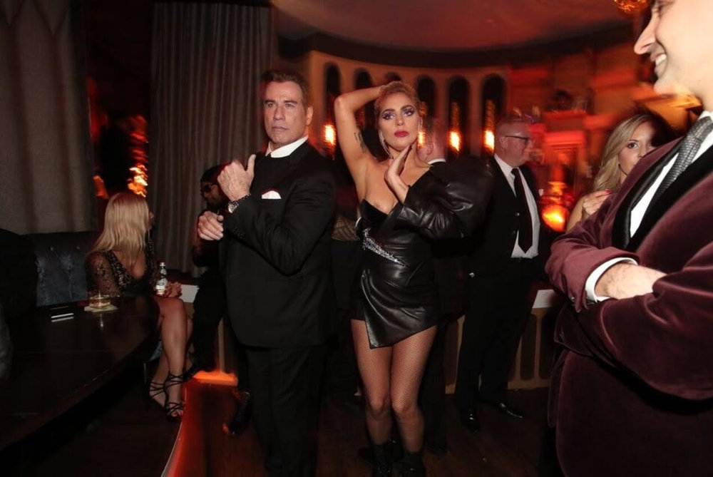 John Travolta and Lady Gaga attend Interscope's Grammy After Party at  The h.wood Group's Peppermint Club on February 12, 2017 in Los Angeles, California.Photo Credit:Christopher Polk/Getty Images