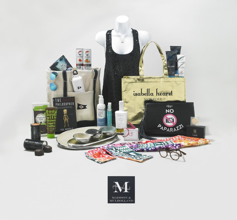 The Madison & Mulholland 2017 Award Season Gift Bag! Courtesy Photo