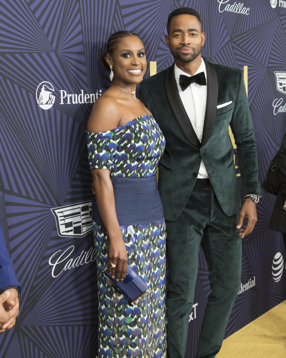"Issa Rae and Jay Ellis on the Carpet. The ""ABFF Presented by Cadillac"" Showcased the Best Work Over the Past Year. Photo Credit: Michael Rowe"