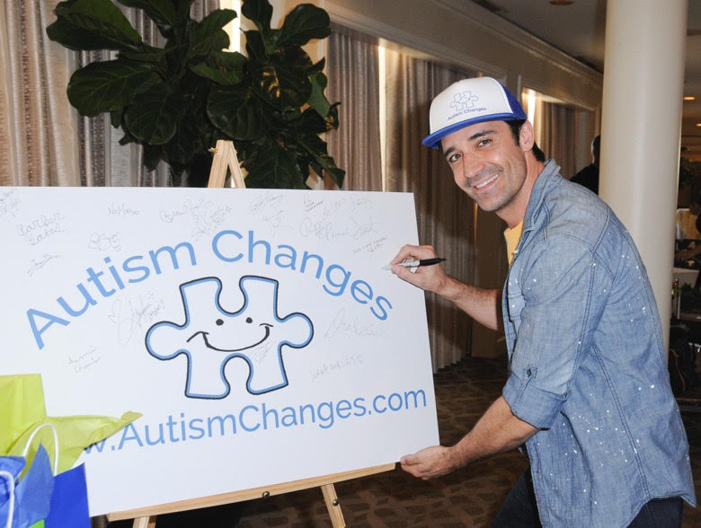 Gilles Marini was all smiles as he supported Autism Changes at Debbie Durkin's EcoLuxe Lounge sponsored by Chariot Travelware and Un Joyau Majestueux at The Beverly Hills Hotel in Beverly Hills, CA. Photo Credit: Vivien Best/Getty Images