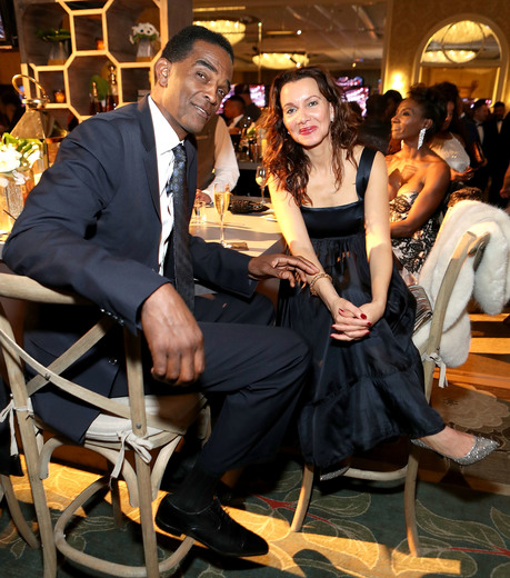 Retired NBA player Ralph Sampson (L) and Aleize Sampson attend the Annual Mercedes-Benz + ICON MANN 2017 Academy Awards viewing party at Four Seasons Hotel Los Angeles at Beverly Hills on February 26, 2017 in Los Angeles, California. (Photo by Randy Shropshire/Getty Images for Mercedes-Benz USA)
