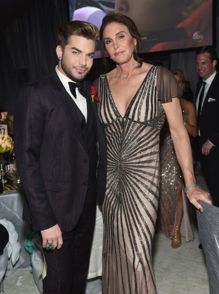 WEST HOLLYWOOD, CA - FEBRUARY 26: Recording artist Adam Lambert (L) and TV personality Caitlyn Jenner attend the 25th Annual Elton John AIDS Foundation's Academy Awards Viewing Party at The City of West Hollywood Park on February 26, 2017 in West Hollywood, California. (Photo by Jamie McCarthy/Getty Images for EJAF)