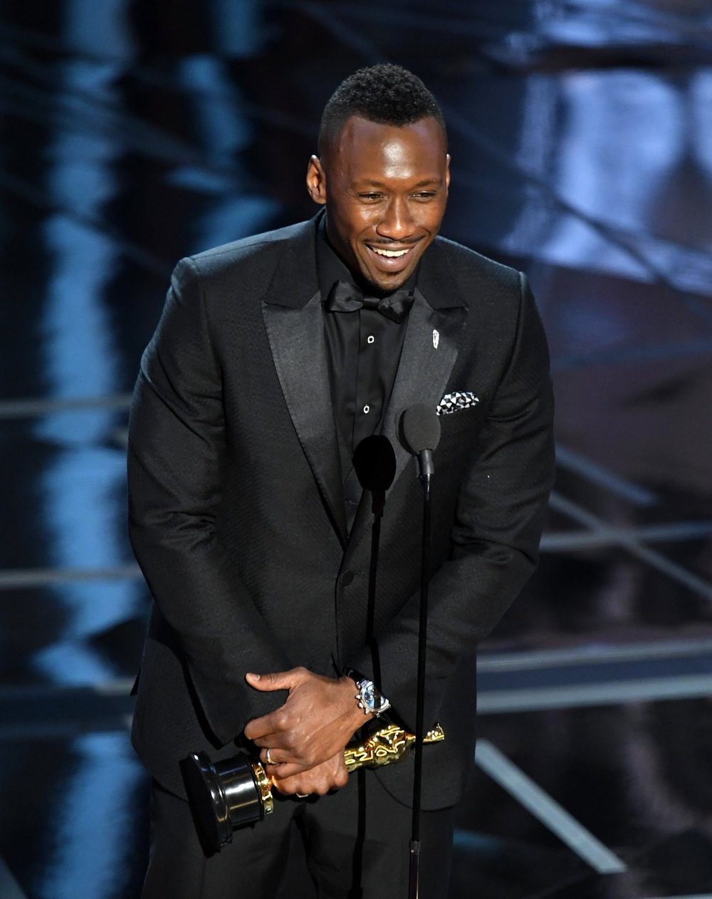 "Mahershala Ali is an Oscar 2017 Winner for Best Actor in a Supporting Role for ""Moonlight."" Photo Credit: Getty Images"