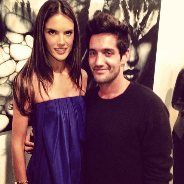 Stinson Cozies Up with the Lovely Alessandra Ambrosio. Courtesy Photo