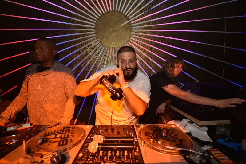 DJ Khaled taking over the DJ booth at the TAO, Beauty & Essex, Avenue, and Luchini LA Grand Opening. Photo Credit: Michael Kovac/Getty Images