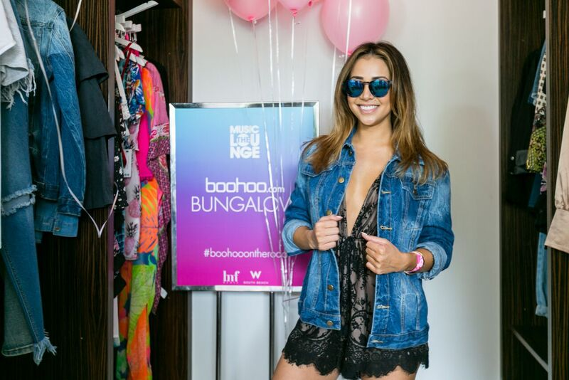 Danielle Picked a Chic Denim Jacket From Boohoo's Dream Closet to Pair With Her Lacey Black Romper! Courtesy Photo