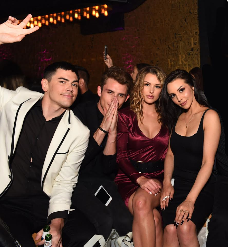 The Vanderpump Rules Crew (Tom Sandoval, Lala Kent, Scheana Marie and James Kennedy Shared a Table and Chatted About All things Vanderpump Including the Upcoming Reunion Specials. Courtesy Photo