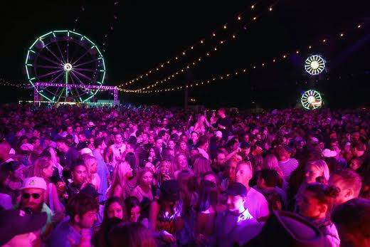 A general view of the atmosphere at The Levi's Brand Presents NEON CARNIVAL with Tequila Don Julio on April 15, 2017 in Thermal, California. Photo Credit: Jonathan Leibson/WireImage