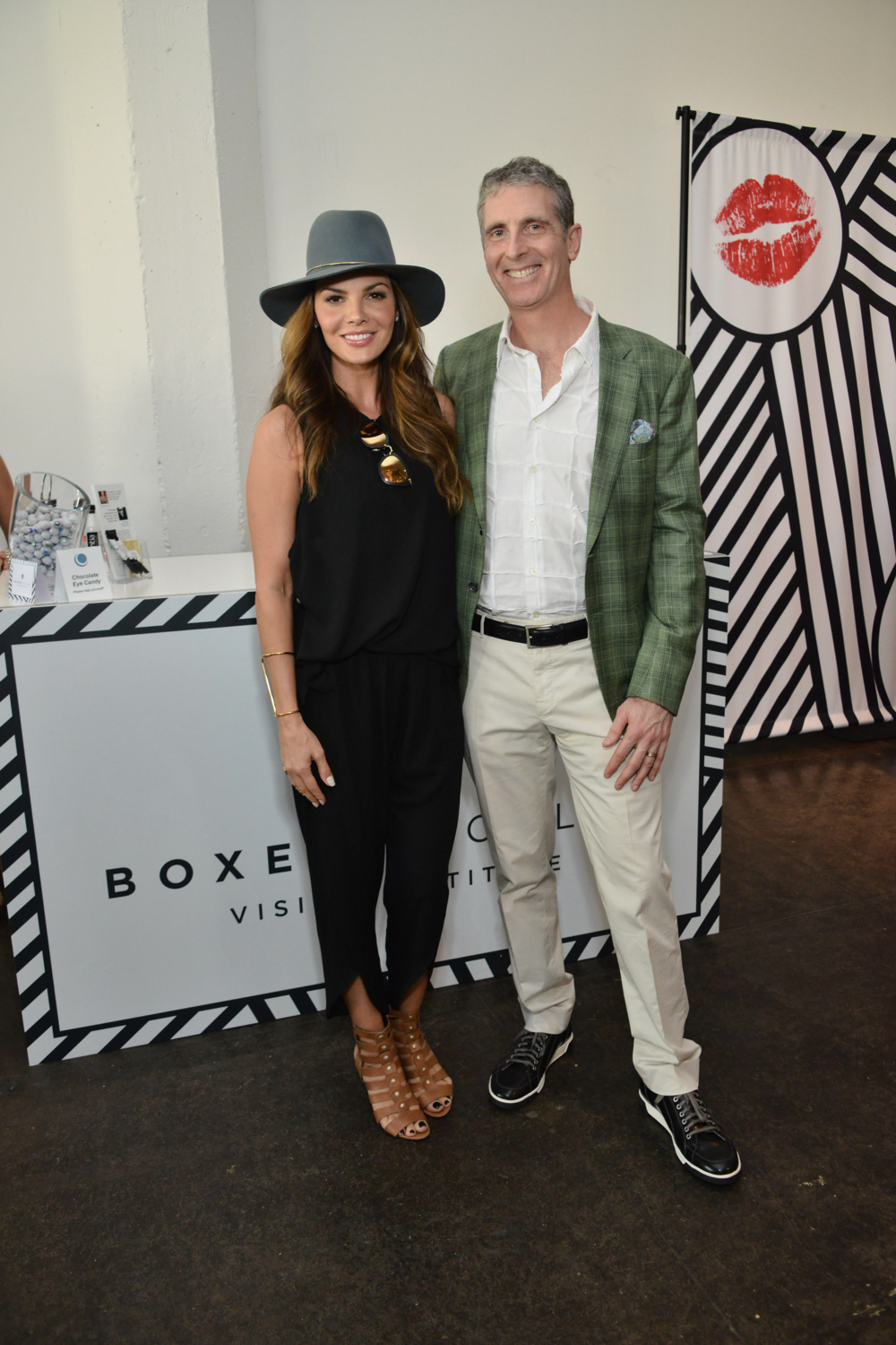 Actress and model Ali Landry with Dr. Brian Boxer Wachler. Courtesy Photo