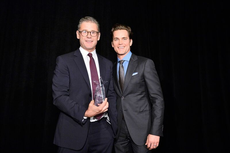 Simon Halls  and  Matt Bomer  received the Ambassador of Children Award during  Uplift Family Services at Hollygrove Gala. Photo Credit:  Stefanie Keenan/Getty Images