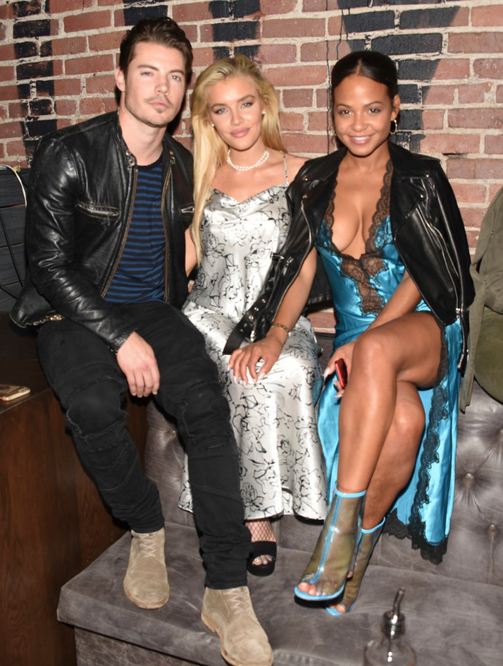 "The Arrangement star Josh Henderson, recording artist Jean Watts and Christina Milian were in great spirits as they attended Karma International's 9th Annual ""Karma Masquerade"". Photo Credit: Michael Bezjian / WireImage"